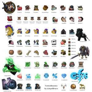 Twitch, Discord, and Gamewhisp Emotes