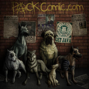 PACK: dogs stand together - Concept